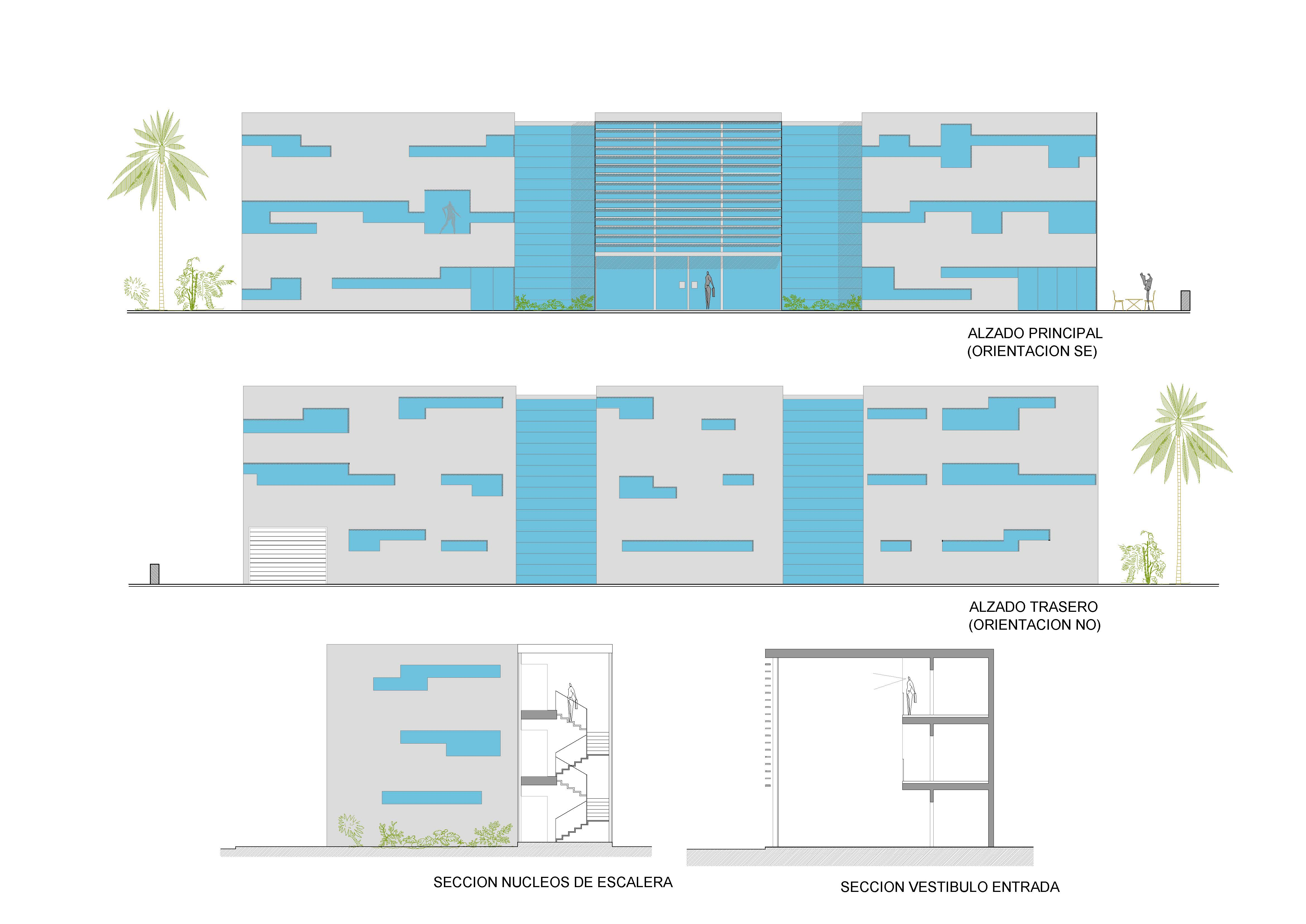 Anteproyecto de edificio destinado a oficinas