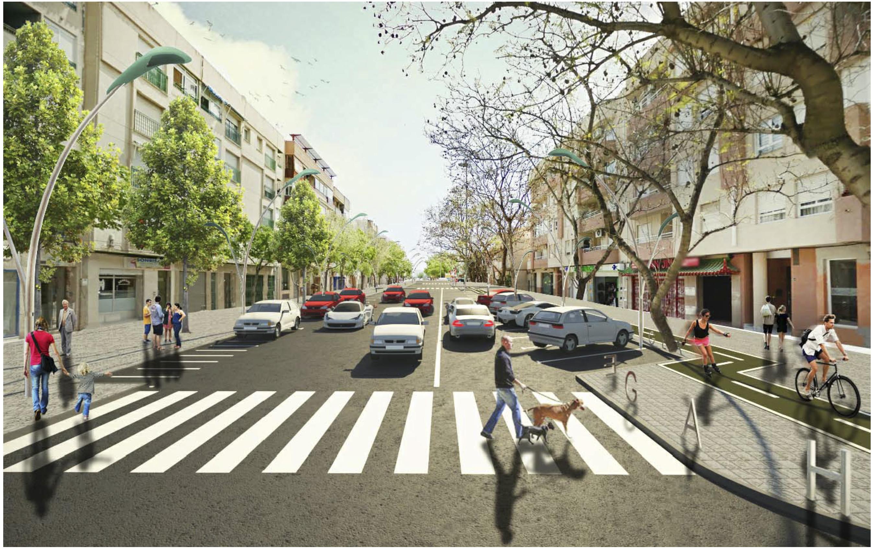 Renovación urbana de la Alameda de Cervantes
